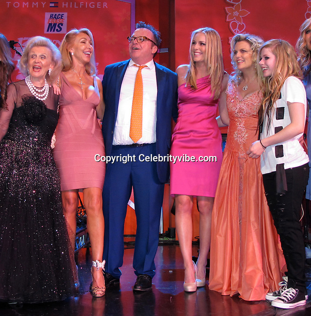 Barbara Davis, Linda Thompson, Tom Arnold, Nancy Davis, Lindsey Vonn and Avril Lavigne..Race to Erase MS Hosted by Nancy Davis – Inside..Hyatt Regency Century Plaza Hotel..Century City, CA, USA..Friday, May 07, 2010..Photo By CelebrityVibe.com.To license this image please call (212) 410 5354; or Email: CelebrityVibe@gmail.com ; .website: www.CelebrityVibe.com.