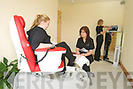 Goga Radojcic treating Sarah O'Sullivan to a pedicure in one of Me-Time's treatment rooms