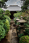 Tokyo, June 25 2013 - Bouddhist temple in the Nezu area.