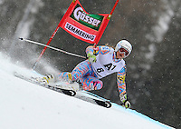 ATENCAO EDITOR IMAGEM EMBARGADA PARA VEICULOS INTERNACIONAIS - SEMMERING, AUSTRIA, 28 DEZEMBRO 2012 - AUDI FIS ALPINE WORLD CUP - A atleta norte americana Julia Mancuso compete na prova de Slalom Gigante do esqui Alpino durante a Audi FIS World Cup em Semmering na Austria nesta sexta-feira, 28. (FOTO: PIXATHLON / BRAZIL PHOTO PRESS).