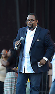 September 10, 2011 (Washington, DC)   Bishop Hezekiah Walker performed at the 26th Annual Dorothy I. Height Black Family Reunion Celebration on the National Mall in Washington, DC.  Bishop Wlaker won Grammy Awards for 1994's Live in Atlanta at Morehouse College and 2001's Love Is Live!.. (Photo by Don Baxter/Media Images International)