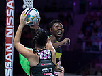 Fast5 2017<br /> Fast 5 Netball World Series<br /> Hisense Arena Melbourne<br /> Match <br /> Sth Arica v Jamaica<br /> Vangelee Williams<br /> <br /> <br /> <br /> Photo: Grant Treeby