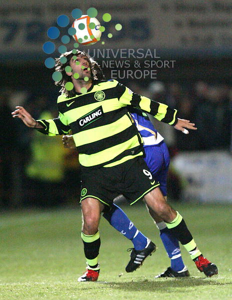Celtic's Georgios Samaras shows good ball control during The Active Nation Scottish Cup Fourth Round match between Greenock morton and Glasgow Celtic at Capielow 19/01/10..Picture by Ricky Rae/universal News & Sport (Scotland).