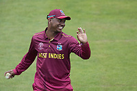 Evin Lewis (West Indies) warms up after the rain break during South Africa vs West Indies, ICC World Cup Warm-Up Match Cricket at the Bristol County Ground on 26th May 2019