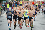 Eagle Rive's  Charlie Latimer, center, leads a group of junior men. Photo for the Star by Michael Dinneen