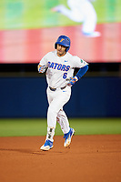 Florida Gators Jonathan India (6) runs the bases after hitting a solo home run in the bottom of the fourth inning during a game against the Siena Saints on February 16, 2018 at Alfred A. McKethan Stadium in Gainesville, Florida.  Florida defeated Siena 7-1 in both teams opening game of the season.  (Mike Janes/Four Seam Images via AP)