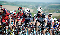 Michal Golaś (POL/OPQS) & Tony Martin (DEU/OPQS) up the very steep Gulperberg (max 19%) in front of their team leader Michal Kwiatkowski (POL/OPQS)<br /> <br /> Amstel Gold Race 2014
