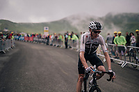 Chris Froome (GBR/SKY) coming back down the brutal Col du Portet (HC/2250m/16km at 8.7%/Souvenir Henri Desgrange) after finishing this historically short stage (only 65km)<br /> <br /> Stage 17: Bagnères-de-Luchon > Saint-Lary-Soulan (65km)<br /> <br /> 105th Tour de France 2018<br /> ©kramon