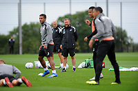 Swansea City assistant manager Billy Reid (C) during the Swansea City Training Session at The Fairwood Training Ground, Wales, UK. Tuesday 14th August 2018