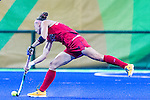 Michelle Kasold #18 of United States passes during USA vs Japan in a Pool B game at the Rio 2016 Olympics at the Olympic Hockey Centre in Rio de Janeiro, Brazil.