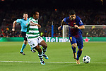 UEFA Champions League 2017/2018 - Matchday 6.<br /> FC Barcelona vs Sporting Clube de Portugal: 2-0.<br /> Gelson Martins vs Luis Suarez.
