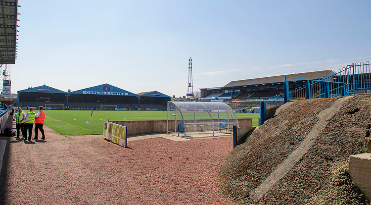 A general view of Brunton Park, home of Carlisle United FC<br /> <br /> Photographer Chris Vaughan/CameraSport<br /> <br /> The EFL Sky Bet League Two - Carlisle United v Lincoln City - Friday 19th April 2019 - Brunton Park - Carlisle<br /> <br /> World Copyright © 2019 CameraSport. All rights reserved. 43 Linden Ave. Countesthorpe. Leicester. England. LE8 5PG - Tel: +44 (0) 116 277 4147 - admin@camerasport.com - www.camerasport.com