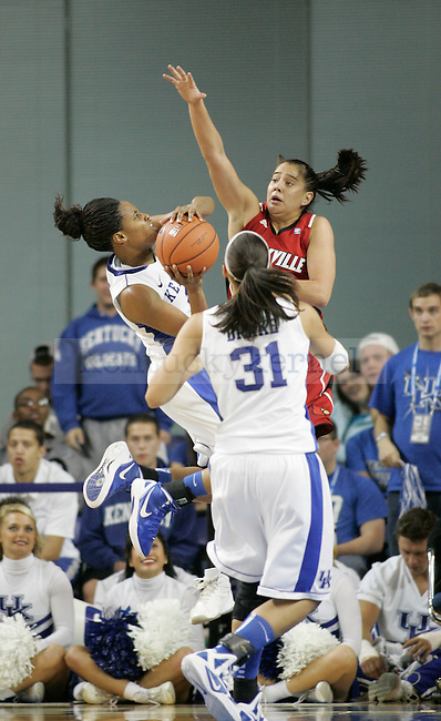 UK Freshman guard Bria Goss jumps to shoot during the second half of UK Hoop's home game against Louisville at Memorial Coliseum in Lexington, Ky., Dec. 4, 2011. UK defeated Louisville 74-54. Photo by Brandon Goodwin   Staff