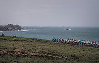 peloton rolling by the sea<br /> <br /> 35th Tro Bro Leon 2018<br /> 1 Day Race: Le Carpont - Lannilis (FRA/203km)