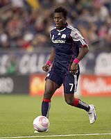 New England Revolution midfielder Kenny Mansally (7) dribbles. Real Salt Lake defeated the New England Revolution, 2-1, at Gillette Stadium on October 2, 2010.