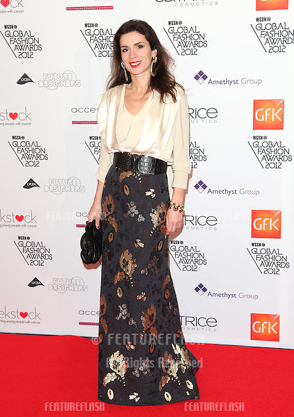 Lara Bohinc arriving for the WGSN Global Fashion Awards at The Savoy Hotel, London. 05/11/2012 Picture by: Alexandra Glen / Featureflash