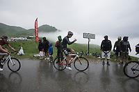 Tony Gallopin (FRA/Lotto-Soudal) getting ready for the treacherous descent off the Col de Joux Plane (HC/1691m/11.6km/8.5%) towards the finish in Morzine<br /> <br /> Stage 20: Megève › Morzine (146.5km)<br /> 103rd Tour de France 2016