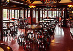 Traditional tea house interior in the old town of Shanghai, China