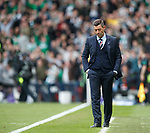 Rangers manager Pedro Caixinha dejects as Celtic score their second goal
