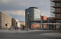 Potsdamer Platz with entrance to the train station or Bahnhof, Berlin, Germany. Picture by Manuel Cohen