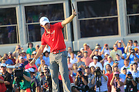Rory McIlroy (NIR) sinks his 20ft birdie putt on the 18th green to win the tournament with a score of -13 and 8 shots clear of the field at the end of Sunday's Final Round of the 94th PGA Golf Championship at The Ocean Course, Kiawah Island, South Carolina, USA 11th August 2012 (Photo Eoin Clarke/www.golffile.ie)