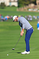 Dustin Johnson (USA) putts on the 6th green at Pebble Beach Golf Links during Saturday's Round 3 of the 2017 AT&amp;T Pebble Beach Pro-Am held over 3 courses, Pebble Beach, Spyglass Hill and Monterey Penninsula Country Club, Monterey, California, USA. 11th February 2017.<br /> Picture: Eoin Clarke | Golffile<br /> <br /> <br /> All photos usage must carry mandatory copyright credit (&copy; Golffile | Eoin Clarke)