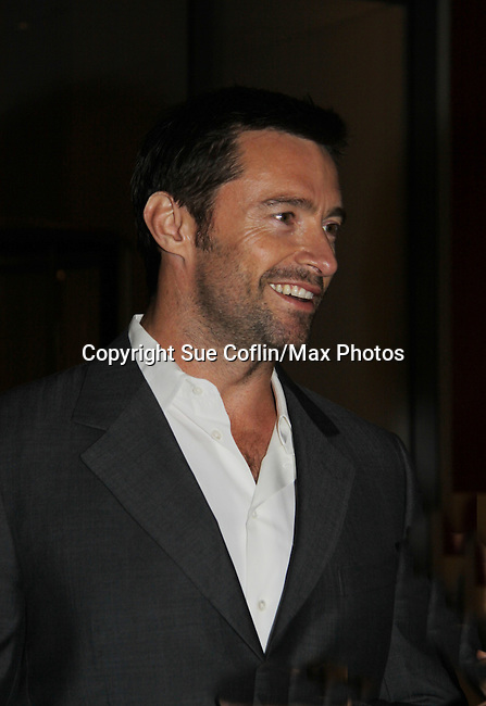 Host Hugh Jackman in support of the launch of the Global Poverty Project's 1.4 Billion Reasons DVD on October 20. 2010 at New York City's Museum of Modern Art, NYC, NY. (Photo by Sue Coflin/Max Photos)