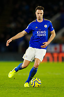11th January 2020; King Power Stadium, Leicester, Midlands, England; English Premier League Football, Leicester City versus Southampton; Jonny Evans of Leicester City on the ball - Strictly Editorial Use Only. No use with unauthorized audio, video, data, fixture lists, club/league logos or 'live' services. Online in-match use limited to 120 images, no video emulation. No use in betting, games or single club/league/player publications