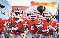 Central's team enters the field before the game against Byron Nelson Friday, Sept. 8, 2017, at San Angelo Stadium.