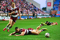 Picture by Alex Whitehead/SWpix.com - 20/04/2018 - Rugby League - Betfred Super League - Wigan Warriors v Castleford Tigers - DW Stadium, Wigan, England - Wigan's Willie Isa looks on after dropping the ball.