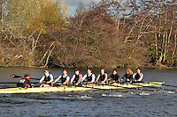 029 .TRC-Cawston .IM2.8+ .Thames RC. Wallingford Head of the River. Sunday 27 November 2011. 4250 metres upstream on the Thames from Moulsford railway bridge to Oxford Universitiy's Fleming Boathouse in Wallingford. Event run by Wallingford Rowing Club..