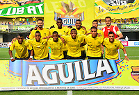 BARRANCABERMEJA- COLOMBIA - 23 - 07 -2016: Los jugadores de Alianza Petrolera posan para una foto, durante partido Alianza Petrolera y Atletico Bucaramanga, por la fecha 5 por la Liga Aguila II 2016 en el estadio Daniel Villa Zapata en la ciudad de Barrancabermeja. / The players of Alianza Petrolera pose for a photo, during a match between Alianza Petrolera and Atletico Bucaramanga, for date 5 of the Liga Aguila II 2016 at the Daniel Villa Zapata stadium in Barrancabermeja city. Photo: VizzorImage  / Jose D Martinez / Cont.