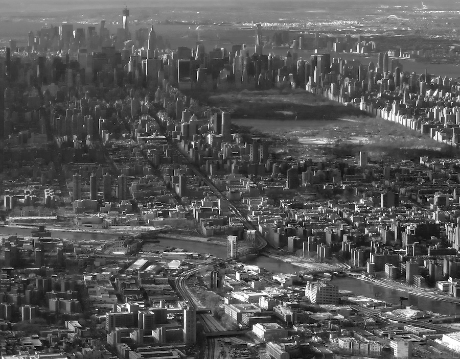Aerial, Manhattan, New York City, USA