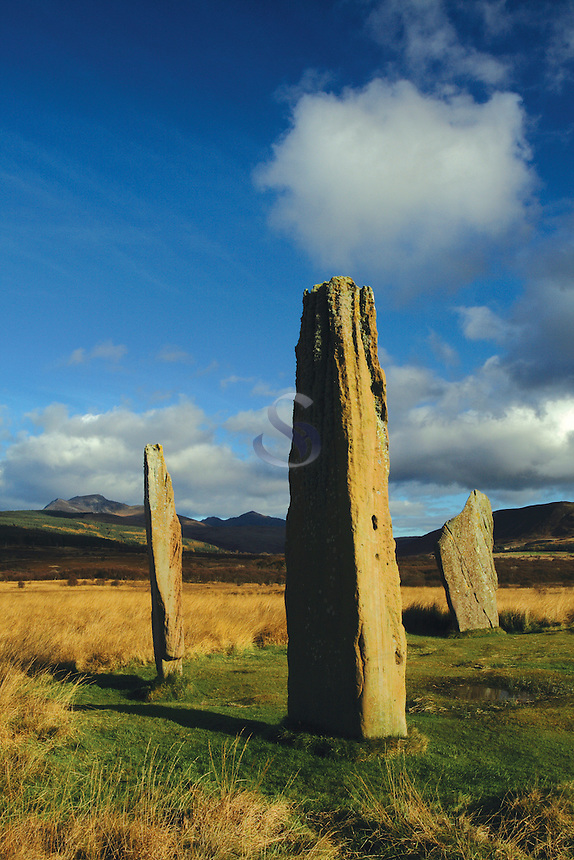 The Standing Stones of Machrie Moor, Machrie, Isle of Arran, Ayrshire<br /> <br /> Copyright www.scottishhorizons.co.uk/Keith Fergus 2011 All Rights Reserved