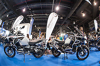 VALENCIA, SPAIN - NOVEMBER 7: BMW stand during DOS RODES at Feria Valencia on November 7, 2015 in Valencia, Spain