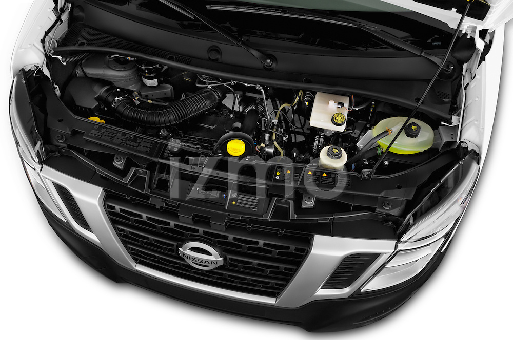 Car Stock 2016 Nissan NV400 Acenta 4 Door Cargo Van Engine  high angle detail view