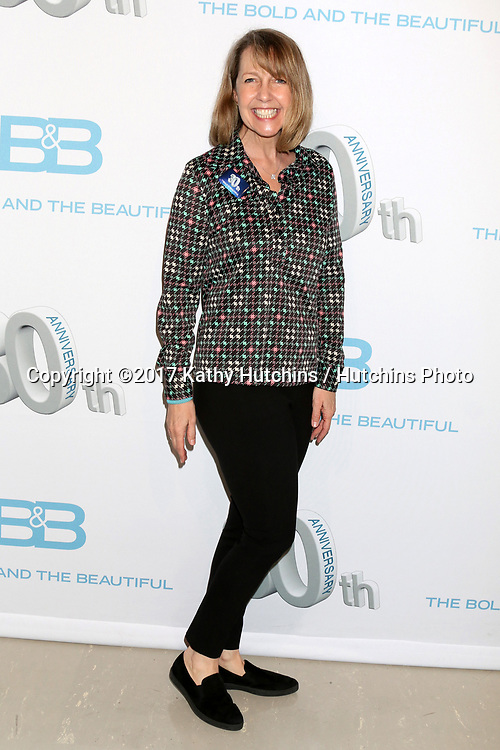 LOS ANGELES - MAR 23:  Monica Horan at the On Set celebration of 30 Years of Bold and Beautiful and their 23 Daytime Emmy nominations at CBS Televsision City on March 23, 2017 in Los Angeles, CA