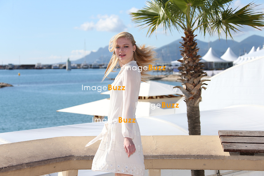 Katia Elizarova, the Russian model attends the Mipcom in Cannes, France, to present the FOX series 'Meet the Russians'. October 8, 2013.