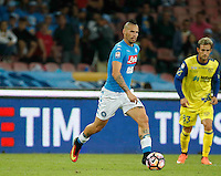Marek Hamsik  during the  italian serie a soccer match,between SSC Napoli and AC Chievo       at  the San  Paolo   stadium in Naples  Italy , September 25, 2016