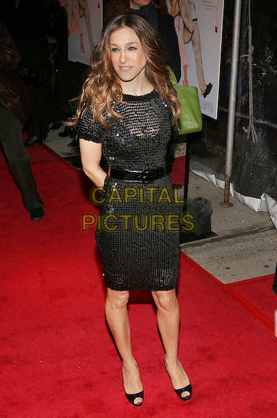 """SARAH JESSICA PARKER .Premiere of """"Failure to Launch"""", New York, NY, USA..March 8th, 2006.Photo: Jackson Lee/Admedia/Capital Pictures.Ref: JL/ADM.full length black sequin dress belt.www.capitalpictures.com.sales@capitalpictures.com.© Capital Pictures."""