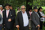 """Roma Holocaust 67th anniversary. Attended by Roma survivors and families of survivors and victims. Commemoration at Crematorium V, where many Roma were exterminated. Auschwitz II Birkenau, Oswiecim Poland ..Roma Holocaust """"Porrajmos"""", the Roma word means literally """"the devouring"""", where it is estimated that between 500 thousand and one and a half million Roma were exterminated across Germany, Poland, ex-Yugoslavia and Czechoslovakia during the 1930s and 1940s. The Roma were the first race to be subjected to experimentation by the Nazis, as part of Joseph Goebbels' 'Final Solution'."""