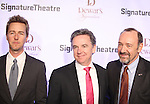 Edward Norton and Kevin Spacey with Signature Founding Artistic Director, James Houghton attending The Signature Theatre Center Opening Gala Celebration honoring Edward Norton in New York City on 1/30/2012..