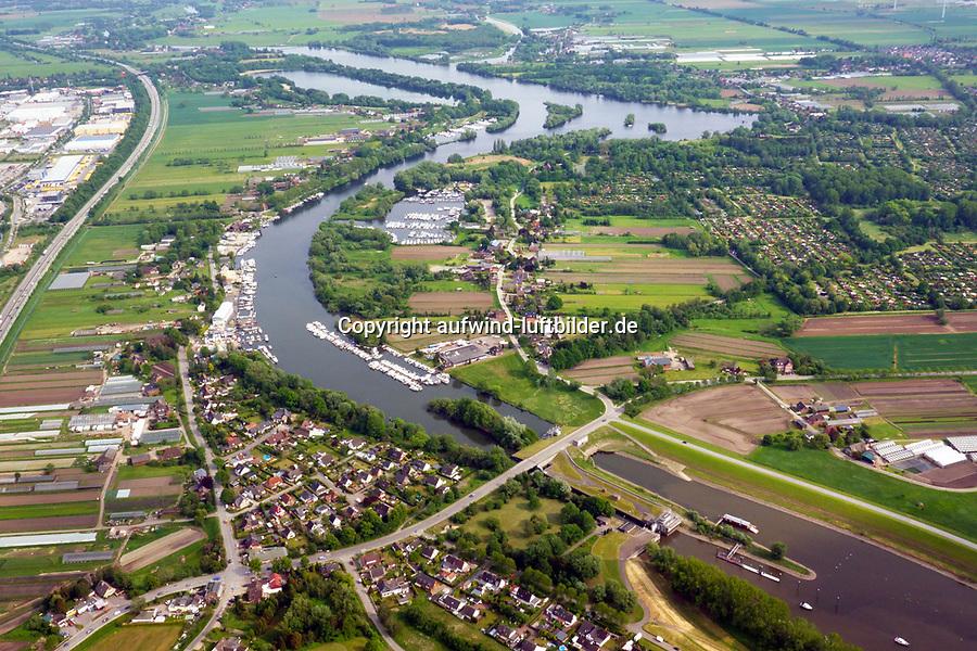 Dove Elbe von der Tatenberger Schleuse bis zur Regattastrecke: EUROPA, DEUTSCHLAND, HAMBURG,  23.05.2019: Dove Elbe von der Tatenberger Schleuse bis zur Regattastrecke