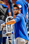 22 June 2019: Toronto Blue Jays second baseman Lourdes Gurriel Jr. awaits his turn in the batting cage prior to a game against the Boston Red Sox at Fenway :Park in Boston, MA. The Blue Jays rallied to defeat the Red Sox 8-7 in the 2nd game of their 3-game series. Mandatory Credit: Ed Wolfstein Photo *** RAW (NEF) Image File Available ***