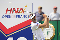 Raphael Jacquelin (FRA) on the 10th tee during Round 3 of the HNA Open De France at Le Golf National in Saint-Quentin-En-Yvelines, Paris, France on Saturday 30th June 2018.<br /> Picture:  Thos Caffrey | Golffile