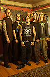 Various portrait sessions of the rock band, Devildriver