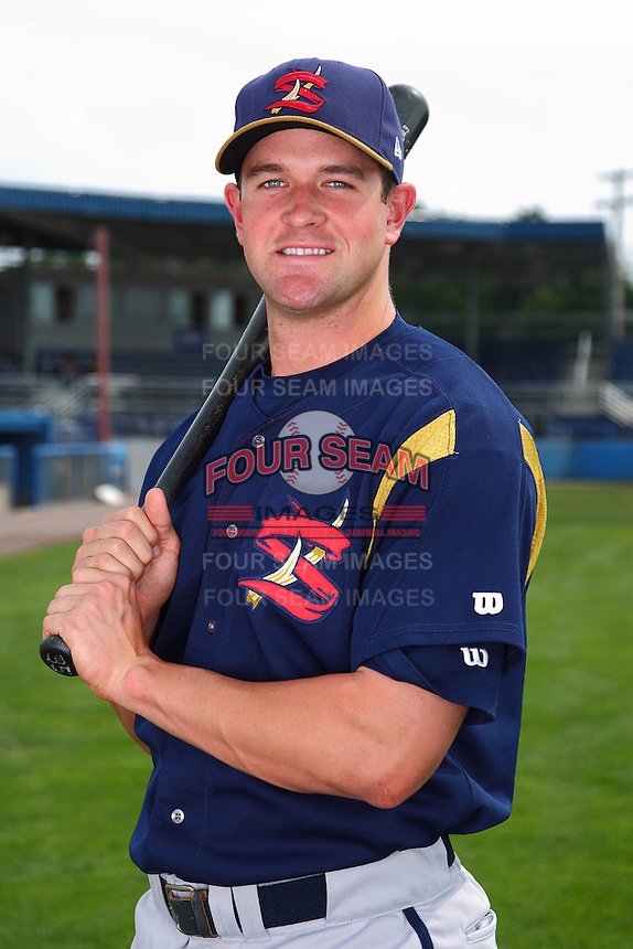 State College Spikes outfielder Wes Freeman #45 poses for a photo before a game against the Batavia Muckdogs at Dwyer Stadium on July 7, 2011 in Batavia, New York.  Batavia defeated State College 16-3.  (Mike Janes/Four Seam Images)