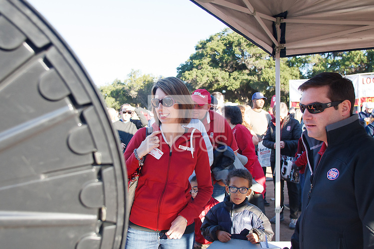 Stanford, CA - Saturday November 28, 2015: Fan Fest before the Stanford vs Notre Dame game Saturday night at Stanford Stadium.<br /> <br /> The Cardinal defeated the Irish 38-36.