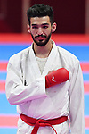 Ahmad Almesfer (KUW), <br /> AUGUST 27, 2018 - Karate : Men's Kumite -84kg Final at Jakarta Convention Center Plenary Hall during the 2018 Jakarta Palembang Asian Games in Jakarta, Indonesia. <br /> (Photo by MATSUO.K/AFLO SPORT)