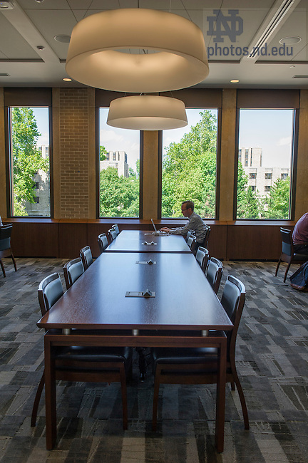 Aug. 23, 2015; Hesburgh Library renovation.  (Photo by Barbara Johnston/University of Notre Dame)